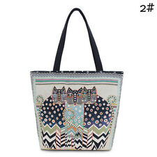 Women Bag Canvas Shoulder Bag Embroidery Cat Clutch Handbag Female ShoppingGgt