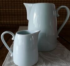 """Mse~Martha Stuart Everyday ~2 Pitchers ~7.5"""" & 4"""" ~Baby Blue~Perfect Cond.!"""