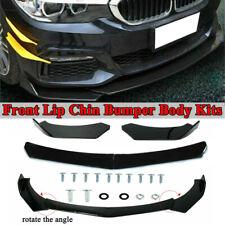 Gloss Black Universal Front Bumper Spoiler Lip Body Kit Splitter Chin Decoration