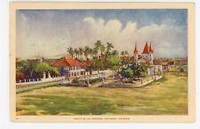 Ermita de las Mercedes CARTAGENA Colombia—Rare Vintage PC Stamp 1930s