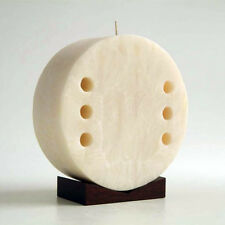 "Decor Candle Extra Large Scented Soy Wax With Wooden Base 8"" Tall Unique Piece"