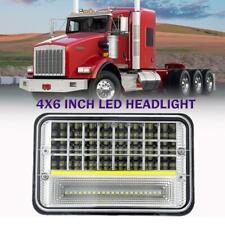 "4""x6"" 225W DOT LED Headlights HI/LO Beam Projector Headlamp DRL H4 For Kenworth"