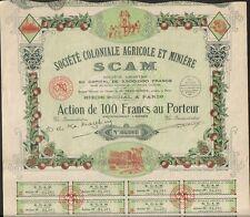 DECO => SCAM Sté Coloniale AGRICOLE & MINIERE (MAROC & Colonies) (H)