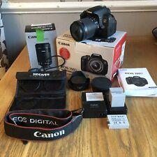Canon EOS 700D Bundle con-S 18-55mm EF IS STM + 55-250mm IS STM Lenti + extra