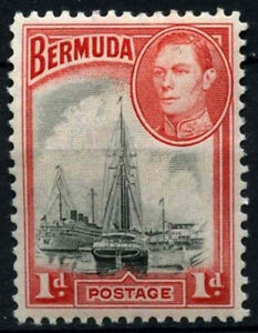 Bermuda 1938-52 SG#110, 1d Black And Red KGVI MH #D30966