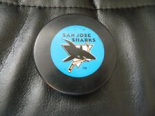 vintage SAN JOSE SHARKS puck OFFICIAL NHL by TRENCH J. Ziegler President*