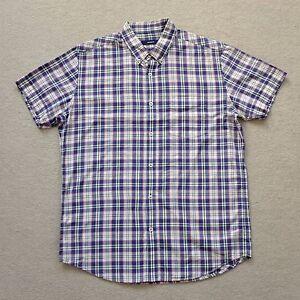 Marcs Men's Short Sleeve Casual Shirt Plaid Check Size L Large