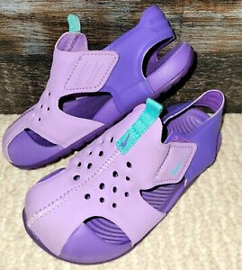 Nike Sunray Protect 2 Toddler Girls' Purple Sandals/water Shoes~size 9 C