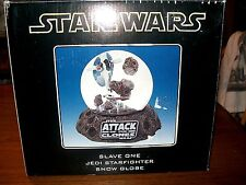 Star Wars Attack of the Clones Slave One Jedi Starfighter Snow Globe Nib