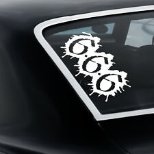 666 number devil teufel gothic satan heckscheibe Sticker Auto Aufkleber JDM 40cm