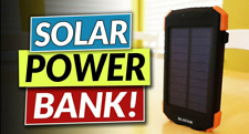 Power bank solar Dual Usb universal 9000Mah