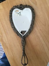 Antique Heart Shaped Hand Mirror Silver Plate?