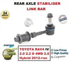 FOR TOYOTA RAV4 IV 2.0 2.2 D 4WD 2.5 Hybrid 2012->on 1x REAR AXLE STABILISER BAR
