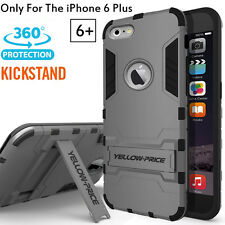 Shock Proof Defender Armour Stand Case Cover REAL Glass Film for iPhone 6S+ Plus
