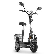 E-Scooter Elektroroller 40kmh Elektro Roller Strassenzulassung STVO WH-BK NEU