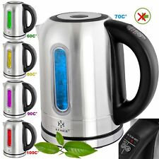 KESSER® Wasserkocher 2200W Teekocher Edelstahl-Wasserkocher 1,7L Kabellos LED