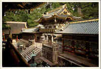 JAPAN Post Card Postkarte Yomeimon Nikko Temple Tempel Anlage Bauwerk color AK