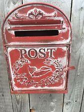Métal Style Vintage Post Paroi de la Caisse Boîte à Lettre en Rouge