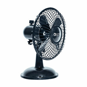 "Comfort Zone 5"" Oscillating Desk Fan, Black"