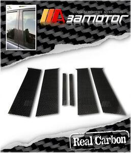 Carbon Fibre Door B Pillar Panel Covers Set fits Mitsubishi Evolution X EVO 10