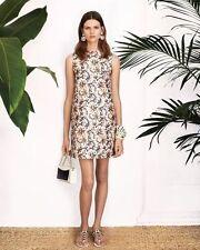 $595 NWT TORY BURCH Esmeralda Floral Print Woven Silk Shift Dress - Sz 6 (M)