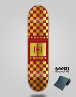 Monopatín skate skateboard deck tabla Cromic Squares red gold