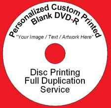 50x Personalized Custom Printed DVD-R Disc Printing Duplication