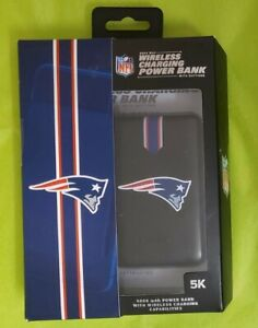 NFL New England Patriots Wireless Charging Power Bank with Suctions