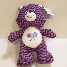 "Care Bears KellyToy 2017 Purple Zig Zag Stripe Lollipops Share Bear NWT 14"" Med"