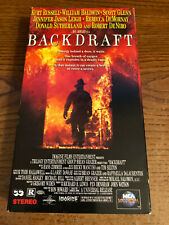 Backdraft Vcr Vhs Tape Movie William Baldwin, Rebecca De Mornay, Rated R Used