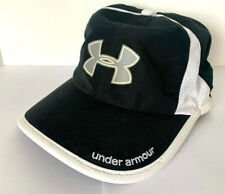 NEW  Under Armour Womens Run Cap-Black/White/Reflective Silver OSFA