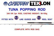GRAUVELL TEKLON 8ft TUNA POPPING ROD BIG GAME SEA FISHING TROLLING BOAT SPINNING