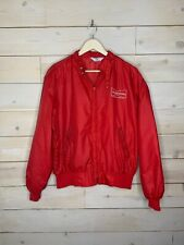 Vintage 1980s Budweiser Jacket Windbreaker Red