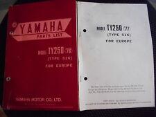 Parts List catalog/liste de pièces CATALOGUE YAMAHA TY 250 TYPE 516 (1976-1977)