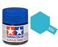 TAMIYA COLORI ACRILICI PER PLASTICA X23 CLEAR BLUE FOR PLASTIC