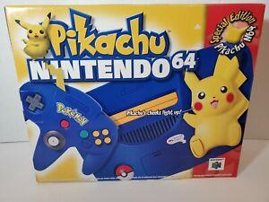 Nintendo 64 Special Pikachu N64 Edition Console Pokemon - Rare