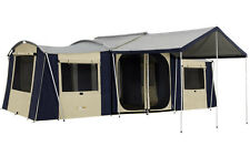 OZTRAIL CHATEAU 10 FAMILY CANVAS CABIN TENT (3 ROOM)
