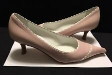 Chanel Italy Women's Pink Leather Pointed Toe Pump Size 37 1/2  US 7 Orig. $750.