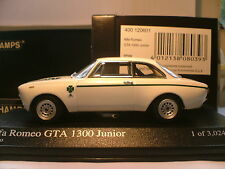 VERY RARE MINICHAMPS 1/43 1972 ALFA ROMEO GTA 1300 JUNIOR OUTSTANDING DETAIL NLA