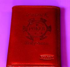 portefeuille cuir vachette gravé personnalisé gravure poker jeton