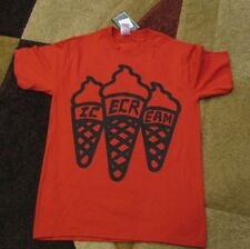 new Ice Cream Red/Black Cone Tee Baseball Softball,Basketball Size S *