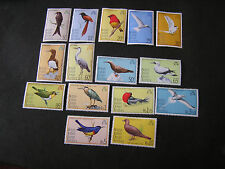 BRITISH INDIAN OCEAN TERRITORY, SCOTT # 63-77(15) COMPLETE SET 1975 BIRDS  MH