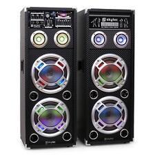 TOP SKYTEC KA-28 AKTIV PA LAUTSPRECHER KARAOKE ANLAGE USB SD MP3 WIEDERGABE SET
