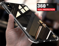 Luxury 360 Shockproof Bumper Clear Case Glass Screen Cover for Apple iPhone 7
