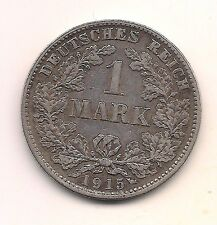 1915-D  Germany Silver One Mark--Very Strong Details !!