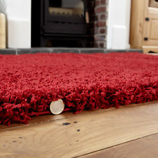 Large Thick Plain Red Colour 5cm High Pile Modern Shaggy Rugs 160 X 230 Cm