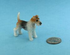Cute 1:12 Scale Dollhouse Miniature Fox Terrier Dog Figurine #S5013