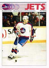 1989 Winnipeg Jets Home vs Calgary Flames NHL Hockey Program #80