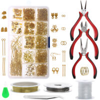Jewelry Making Tools Repair Kit Findings Supplies Pliers Beading Wire Set Craft