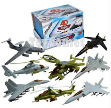 8 pcs 4D Assembled Military Fighter Plane Aircraft Helicopter Model Kit Part II